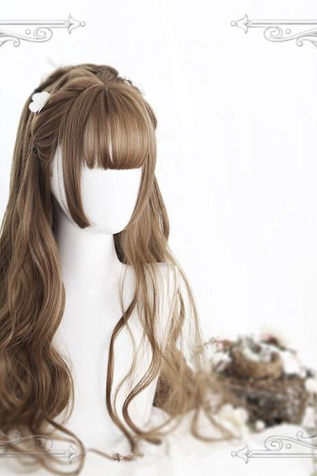 Harajuku Kawaii Long Curly Wigs Daily Wigs LK17112108