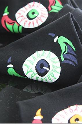 Free Shipping 3 Colors Punk Special Eyes Legging Tights LK15042202