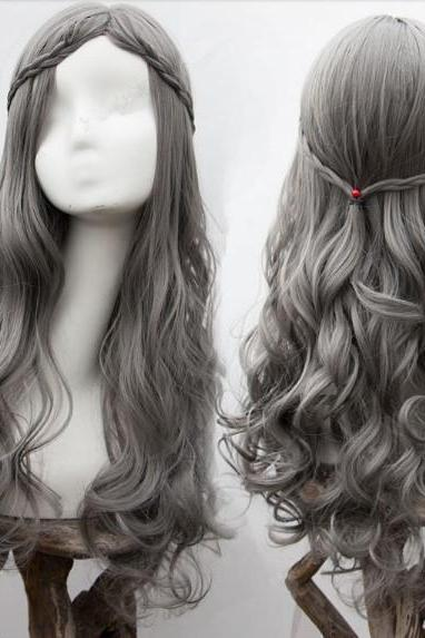 6 Colors Kawaii Long Curly wigs LK17020626